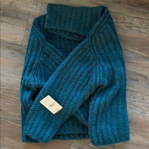 NWT! Turquoise Free People Oversized Sweater